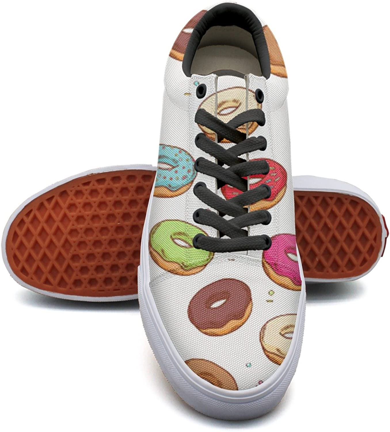 Donut With Sprinkles Women's Casual shoes Sneakers Flat Lo-Top New Trainers