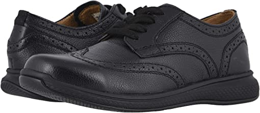 Black Milled Leather/Black Sole