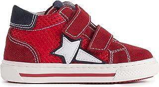 Nero Giardini P923450M Sneakers Kids da Bambino in Pelle, Camoscio E Tela