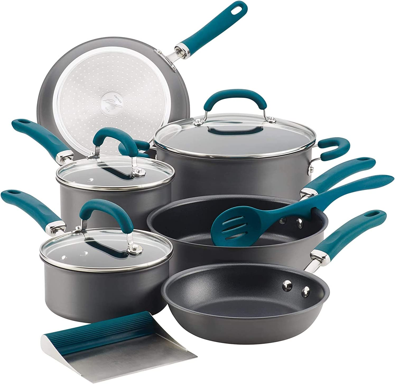 Rachael Ray Create A surprise price is realized Delicious Nonstick Set Ha Popular popular Cookware 11-Piece