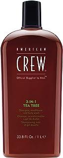 American Crew 3-In-1 Tea Tree Shampoo & Conditioner & Body Wash, 1 L