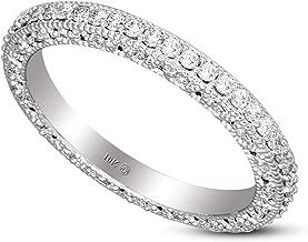Friendly Diamonds 100% Real Diamond Ring Eternity Band Diamond Ring IGI Certified Lab Grown Diamond Engagement Ring For Women Lab Created Diamond Ring 10K-14K Real Diamond Band Rings