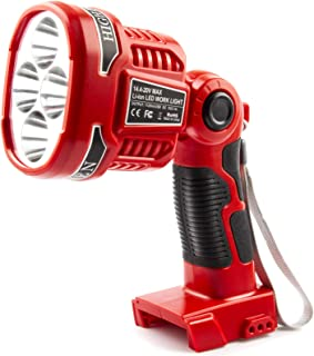 Outdoor Cordless 20V Max LED WorkLight Rechargeable, Compatible with Milwaukee 14.4V-20V Lithium ion Battery M18 48-11-182...