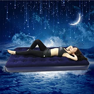 Cyndie Multifunctional Flocking Air Mattress Portable Thicken PVC Inflatable Bed for Home Hotel Camping