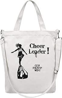 Women'S Tote Craft Bag Washable Shopping Bag Gymnastics Cheer Pyramid Go Fight Win Body Handbag Large Shopper Work Shoulder Bag Washable & Eco-Friendly Beach Tote Duck Bag Business Crossbody Bag