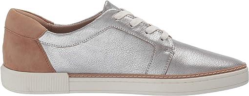 Silver Tan Metallic Tumbled Leather