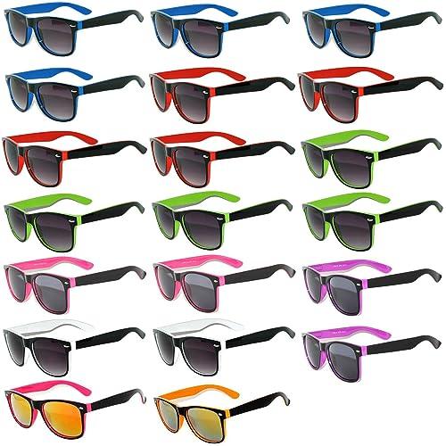 d08be90d2667 20 Pieces Per Case Wholesale Lot Glasses. Assorted Colored Frame Fashion  Sunglasses.Bulk Sunglasses