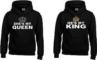 She's My Queen - He's My King Couples Matching Hoodie Sweatshirts