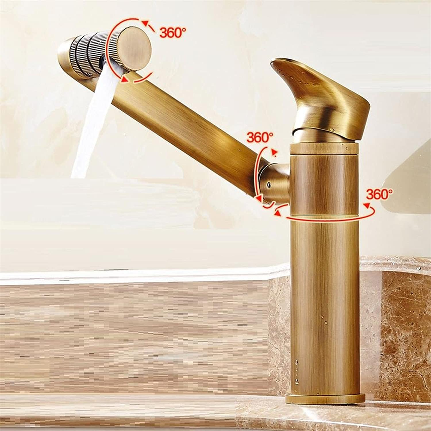 HomJo Bathroom Faucet Chrome Brass Ceramic Single Handle white redary Mixer Tap , 2