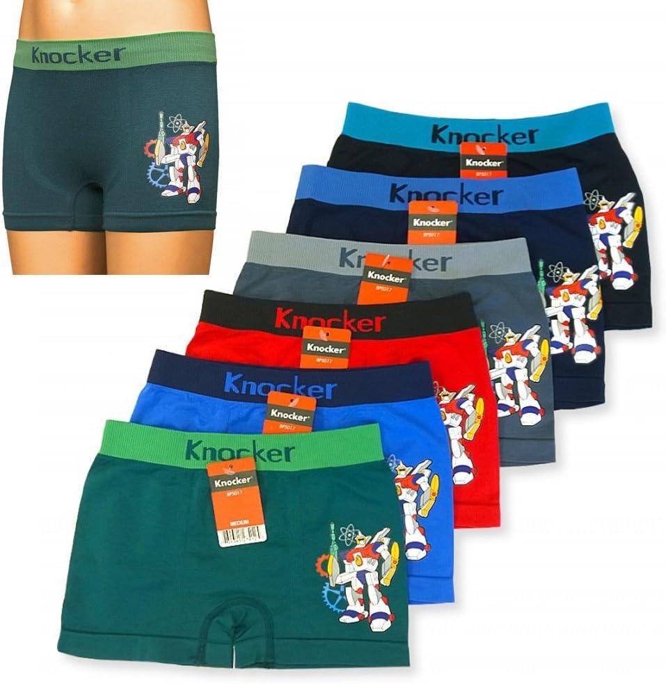12 Boys Boxer Shorts Seamless Knocker Transformer Spandex Kids Soft Underwear M
