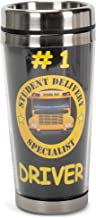 Dicksons Number 1 Bus Driver, Student Delivery Specialist 16 Ounce Stainless Steel Travel Tumbler Mug