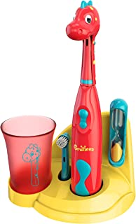 Brusheez® Kids Electric Toothbrush Set (Carnivore Edition) - Battery Operated, Soft Bristles, Easy On/Off, 2 Brush Heads, ...