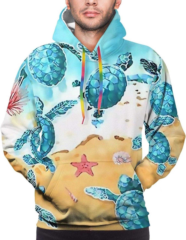 Hoodie For Mens Womens Teens Ocean Summer Sea Turtles Hoodies Outdoor Sports Sweater