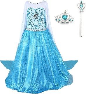 DreamHigh Girls Princess Dress with Crown & Wand Size 3-10 Years