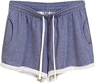 MK988 Women's Drawstring Loose Solid Color Gym Workout Shorts
