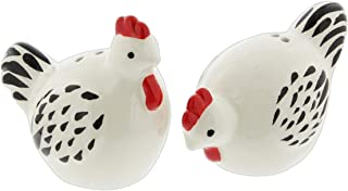 Ceramic Farmhouse Chickens Salt & Pepper Shaker Set