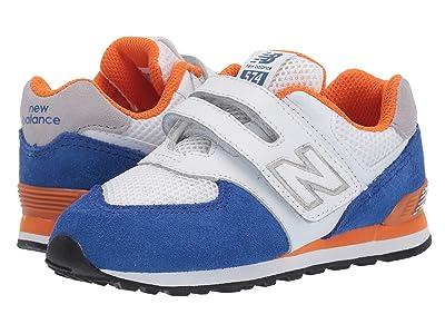New Balance Kids 574 Summer Sport (Infant/Toddler) (Team Royal/Varsity Orange 2) Boys Shoes