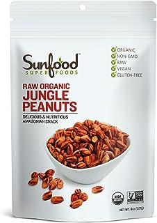 Sunfood Superfoods - Jungle Peanuts Raw Organic - Unique Heirloom Variety- True, Original Rare Form of the Peanut. Non-Hyb...