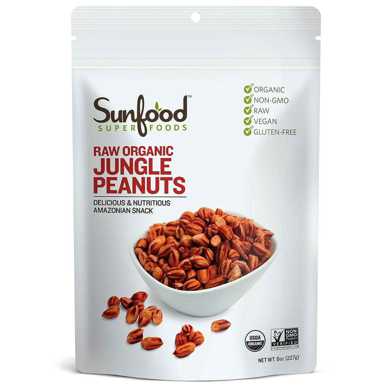 Sunfood Superfoods - Regular store Jungle Peanuts Organic Raw Heirloo Unique Large-scale sale