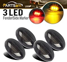 Partsam Replacement For Ford F350 F450 F550 1999-2010 LED Side Fender Marker Light Smoked Full Kit Dually Bed Fender Side Mount Light Clearance Compatible with Ford Super Duty Aftermarket Front Rear