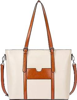 BOSTANTEN Damen Ledertaschen Schultertasche Frauen Designer Handtasche 14 15.6 Zoll Laptoptasche Tote Bag