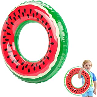 Inflatable Swimming Ring, Fruit Pool Floats, Watermelon Swimming Rings, Inflatable Pool Ring Tubes Funny Beach Toys for Ki...