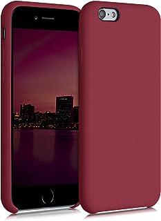kwmobile Hülle kompatibel mit Apple iPhone 6 / 6S   Handyhülle gummiert   Handy Case in Rhabarber Rot
