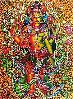 SCPmarts Canvas Print Beautiful Shiva Shakti, Shiva Parvati, Ardhanarishvara, Mural Painting, Goddess Parvati, Shiva Paint...