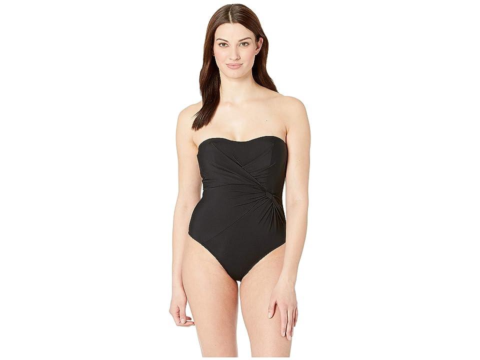 JETS SWIMWEAR AUSTRALIA Jetset Bandeau One-Piece (Black) Women's Swimsuits One Piece