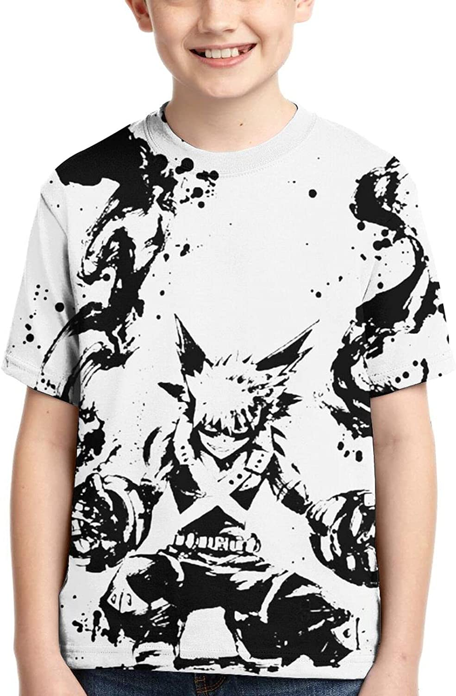 My Hero Academia Katsuki Bakugo Shirts Crew Neck Boy Anime T-Shirt Funny T Shirt Tops