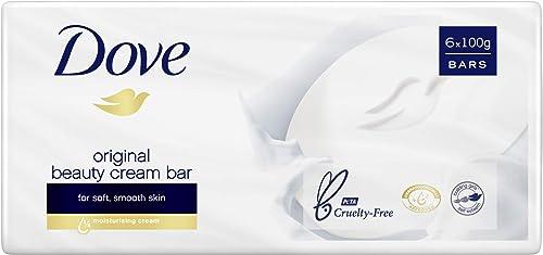 Dove Beauty Soap Bar Original, 6 x 100g
