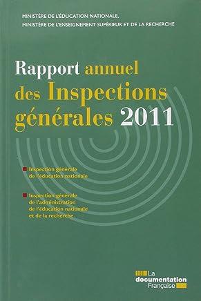 Rapport annuel des Inspections générales 2011