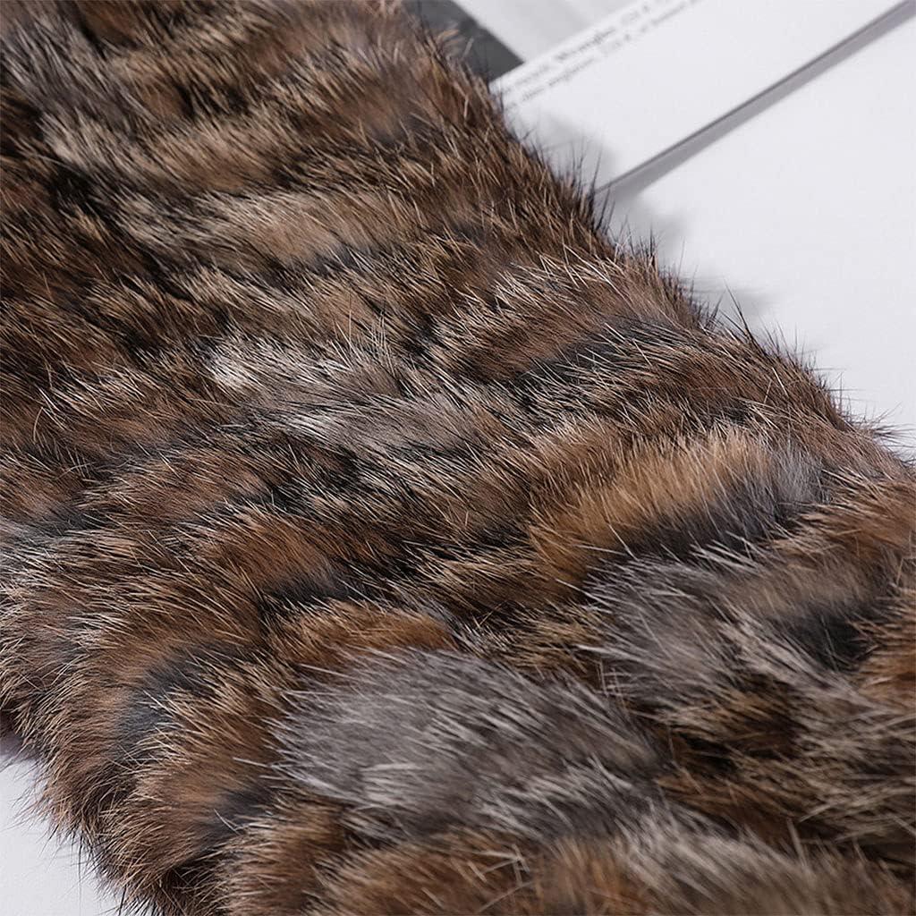 RTUGOVT Warm Hairband - Winter Furry Hairband Elastic Rabbit Fur Headband Ski Hats Winter Outdoor Ear Warmer Soft Warm Earmuff Head Wraps