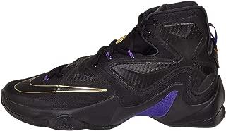 Nike Men's  Lebron XIII Black Black Metallic Gold Hyper Grape Basketball Shoe - 11 D(M) US