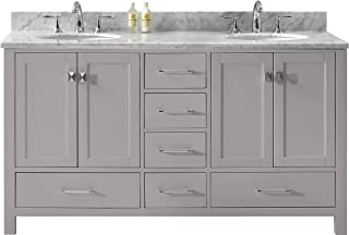 Virtu USA GD-50060-WMSQ-CG-NM Caroline Avenue Bathroom Vanity, 60 inches, Cashmere Gray