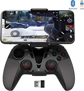 PS3 PC Bluetooth/2.4G Wireless Dual Vibration Controller, Delta essentials Call of Duty Mobile PUBG Mobile Controller Gamepad Support PC (Windows XP/7/8/8.1/10/Vista), PS3, Android OS