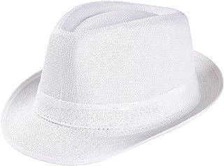 2ead5408c65 Original Panama Hat - White Classic Fedora -Panama Straw Hat-Mens Sun Hat  Wide