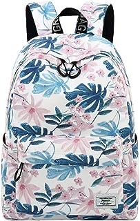 Backpacks for Kids, Flowers and Leaves Backpack Light Daypack School Bag Shoulder Bags Handbag by Mygreen (White)
