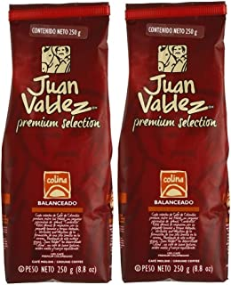 Juan Valdez Colina Ground Coffee, 17.6 oz (8.8 oz - 2pack) - Premium Selection