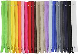 comprar comparacion JTDEAL Cremalleras de Costura, Cremalleras de Colores, 100pcs Cremalleras de Nylon de 23cm, para Costurar Almohadas, Ropa,...