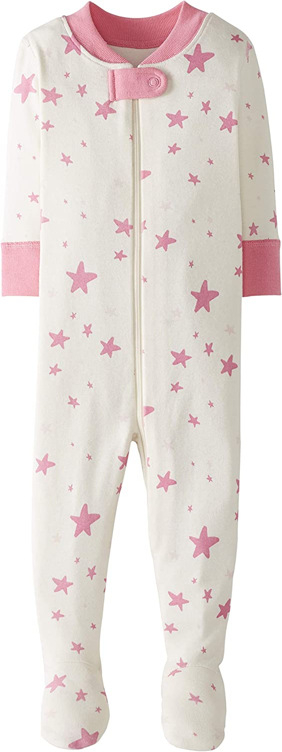 Moon and Back by Hanna Andersson Pijama de Una Pieza con Pies Infant-and-Toddler-Sleepers Unisex beb/é