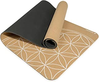 Navaris Cork Yoga Mat - Non-Slip Natural Eco-Friendly Fitness Mat with Shoulder Strap - Perfect for Pilates, Hot Yoga, Out...