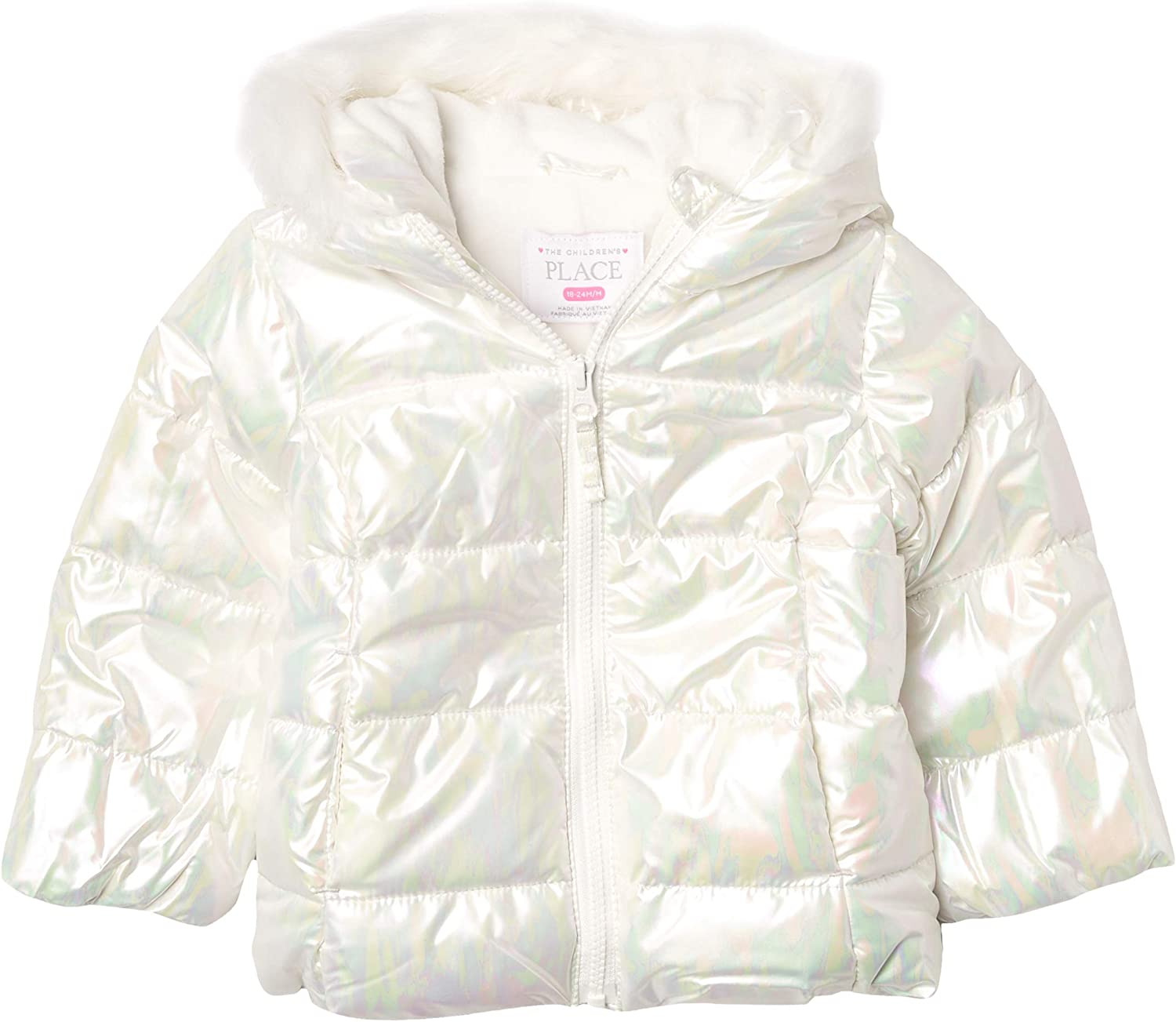 The Children's Place Girls' Toddler Foil Quilted Puffer Jacket