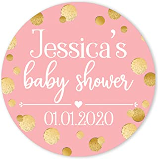 Baby Shower Labels Baby Shower Party Favor Labels Hot Pink Baby Shower Labels Personalised Favor Stickers