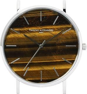 [Thomas Alexandre] Natural Stone Watch Tiger Eye France Minimal Design Men's/Women's