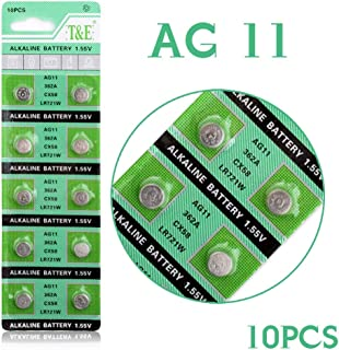 Cotchear AG11 10Pc Alkaline Button Cell Watch Batteries