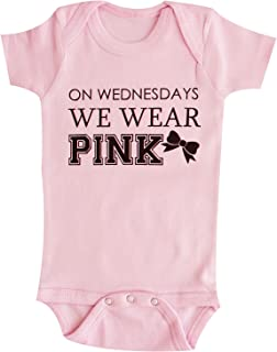 On Wednesday We Wear Pink with Black Print Unisex-Baby Baby Bodysuit