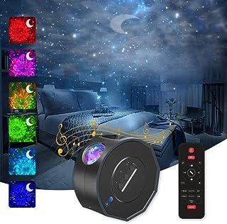 Projecteur Ciel Étoilé,Veilleuse Projecteur avec Télécommandées,3 en 1 Lampe Projecteur de Rotatif Nuage,Luminosité/Couleu...