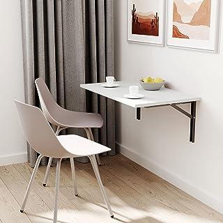 Table murale pliante 65 x 65 cm - Gris clair