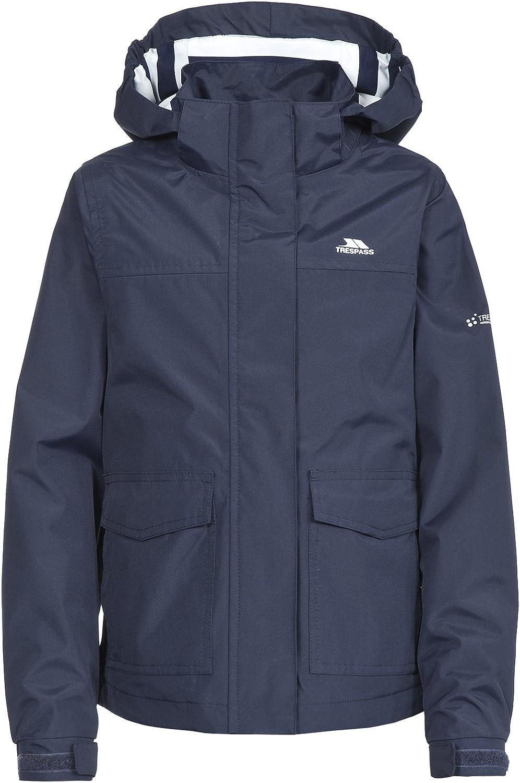 Cecily Girls Waterproof School Jacket Windproof Hooded Lined Rain Coat
